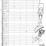 Kalendář, vnitřní strana